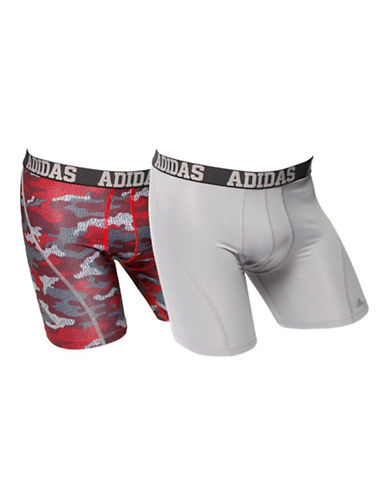 Adidas Two-Pack Climacool Boxer Briefs-RED CAMOUFLAGE-Large