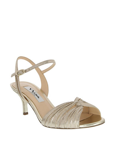 Nina Camille Pleated Sandals-GOLD-8.5