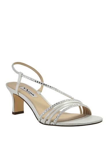 Nina Gerri Kitten Heel Sandals-SILVER-8.5