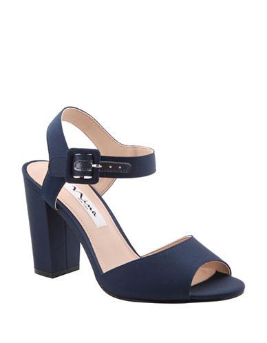 Nina Sparkling Block Heel Sandals-BLUE-9