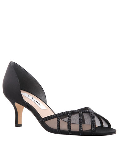 Nina Corita Peep-Toe Pumps-BLACK-6.5