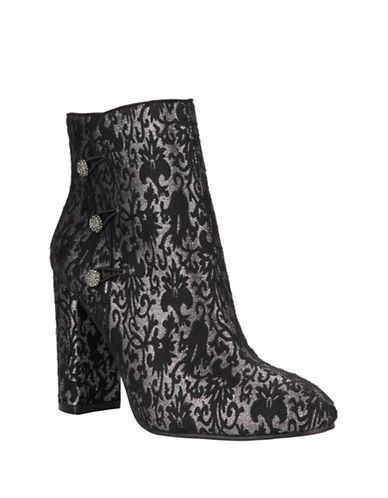 Nina Inamae Block Heel Booties-BLACK-8