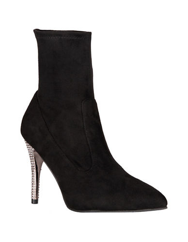 Nina Roxie Stiletto Heel Booties-BLACK-9.5