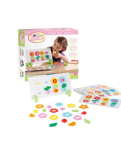 Guidecraft Inc Flower Sort and Match Toy Set-MULTICOLOR-One Size