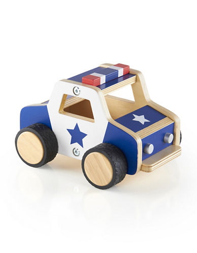 Guidecraft Inc Plywood Police Car-MULTICOLOR-One Size