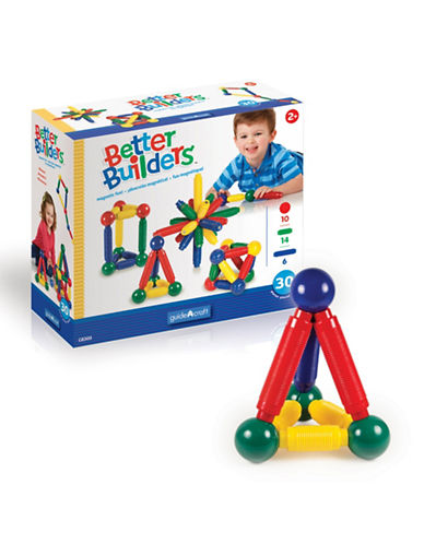Guidecraft Inc Better Builders 30-Piece Set-MULTICOLOR-One Size