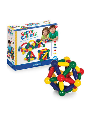 Guidecraft Inc Better Builders 60-Piece Set-MULTICOLOR-One Size