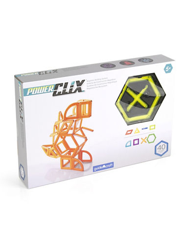 Guidecraft Inc PowerClix Creative 40-Piece Set-YELLOW-One Size