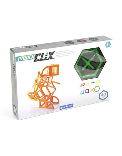 Guidecraft Inc PowerClix Creative 40-Piece Set-GREEN-One Size