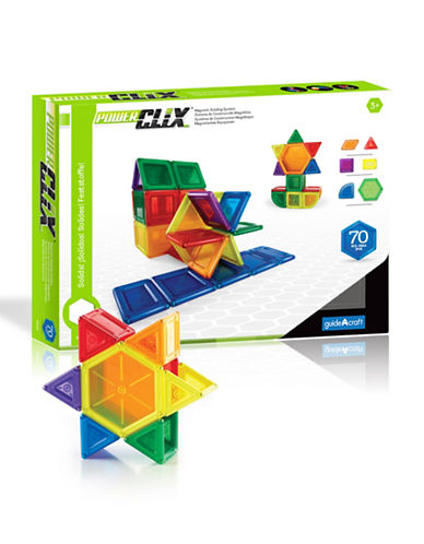 Guidecraft Inc PowerClix Solids 70-Piece Set-MULTICOLOR-One Size