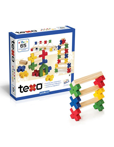 Guidecraft Inc Texo 65-Piece Set-MULTI-COLOUR-One Size