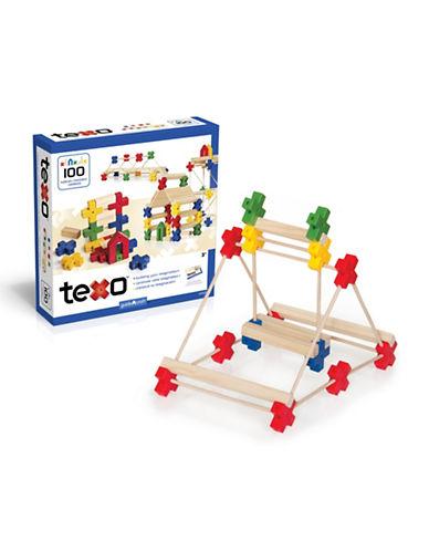Guidecraft Inc Texo 100-Piece Set-MULTI-COLOUR-One Size