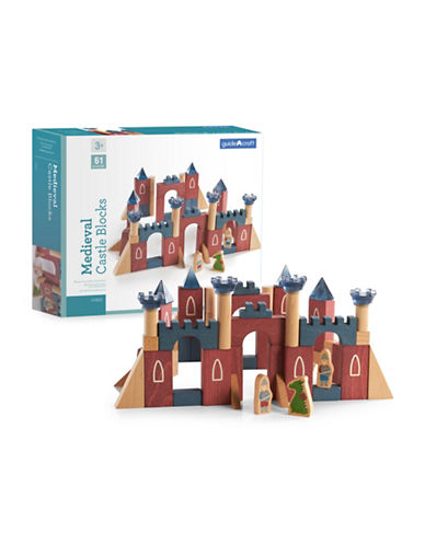 Guidecraft Inc Medieval Castle Blocks-MULTICOLOR-One Size