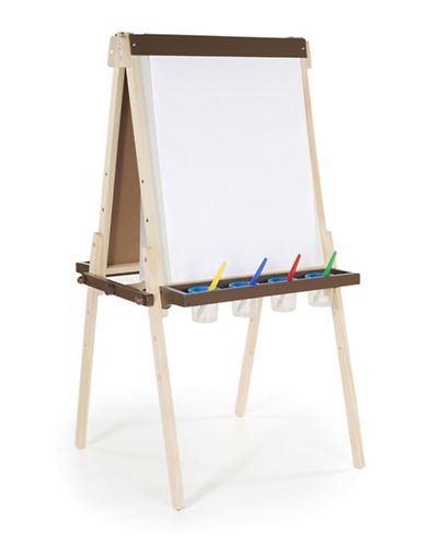 Guidecraft Inc Wooden Deluxe Easel-MULTI-COLOUR-One Size