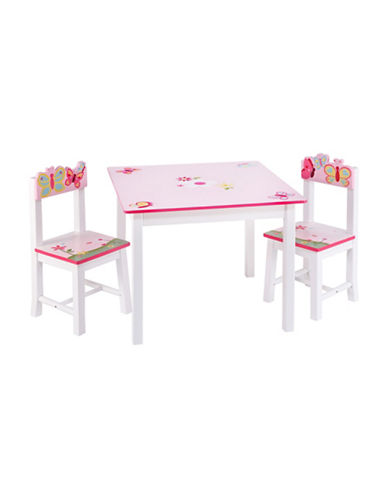Guidecraft Inc Butterfly Buddies Table and Chair Three-Piece Set-MULTICOLOR-One Size