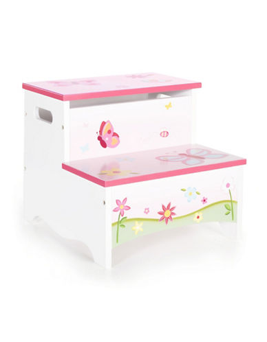 Guidecraft Inc Butterfly Buddies Storage Step-Up Stool-MULTICOLOR-One Size
