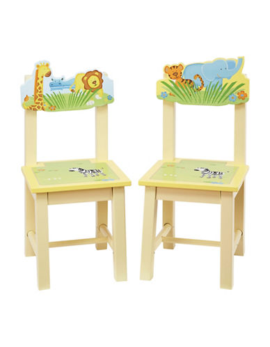 Guidecraft Inc Savanna Smiles Extra Chairs Two-Piece Set-MULTI-COLOURED-One Size