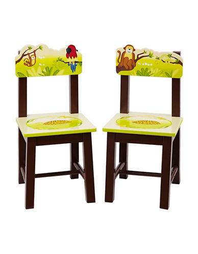 Guidecraft Inc Jungle Party Extra Chairs Two-Piece Set-MULTICOLOR-One Size