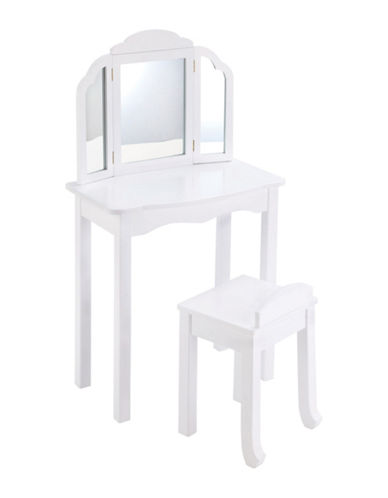 Guidecraft Inc Expressions Vanity and Stool Set-WHITE-One Size