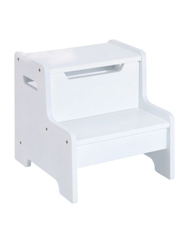 Guidecraft Inc Expressions Step Stool-WHITE-One Size