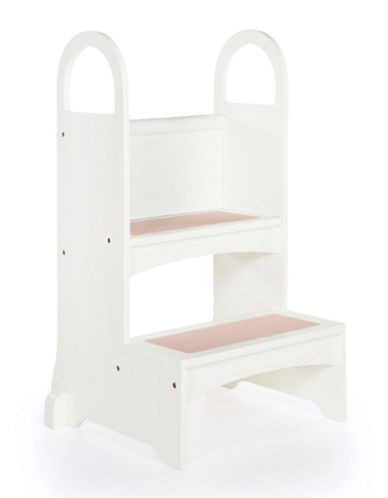 Guidecraft Inc High Rise Step-Up Stool-WHITE-One Size