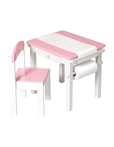 Guidecraft Inc Art Table and Chair Set-PINK-One Size