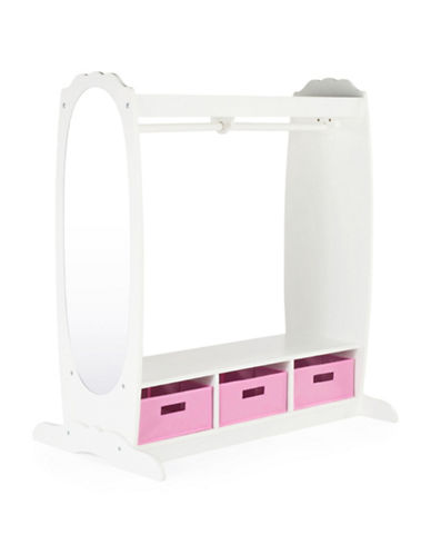 Guidecraft Inc Dress Up Storage Centre-WHITE-One Size