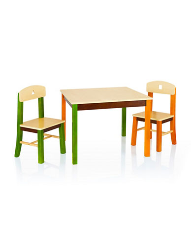 Guidecraft Inc See and Store Table and Chair Set-MULTI-COLOUR-One Size