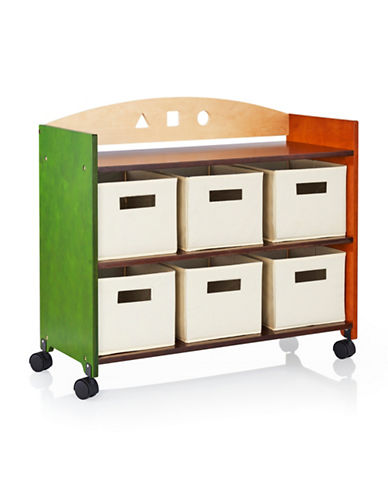 Guidecraft Inc See and Store Rolling Storage Centre-MULTI-COLOUR-One Size