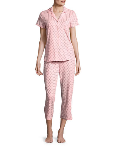 Aria Two-Piece Printed Pyjama Set-PINK PRINT-X-Large
