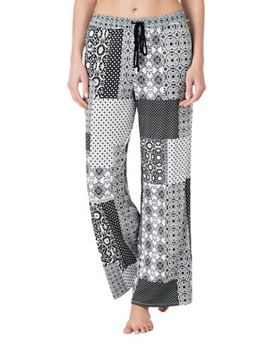 Ellen Tracy Patchwork Palazzo Pants-GREY-Small 88893246_GREY_Small