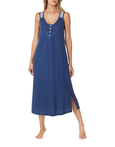 Aria Ballet Maxi Nightgown-BLUE-Small