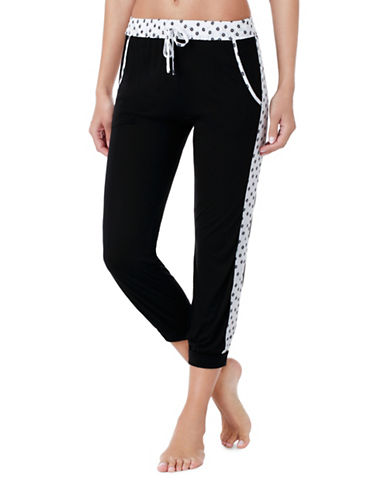 Kensie Jogger Pyjama Pants-BLACK-Medium