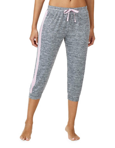 Kensie Slub Jogger Pyjama Pants-GREY-Medium