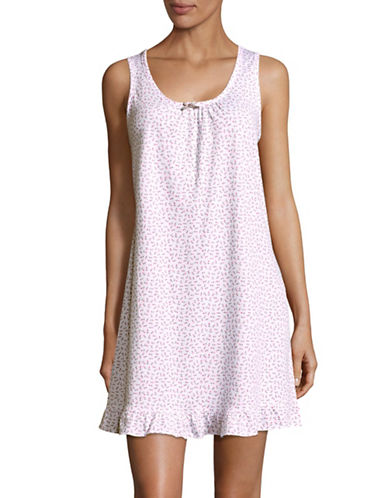Aria Patterned Short Chemise-PINK ROSE-Small