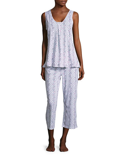 Aria Two-Piece Pyjama Set-WHITE PRINT-Small