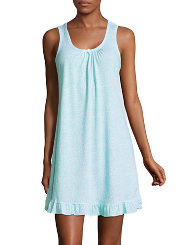 Aria Patterned Short Chemise-BLUE-Medium
