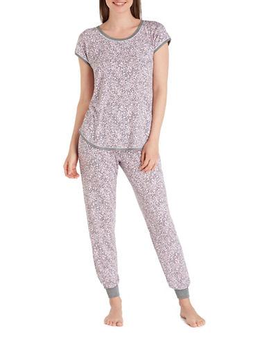 Kensie Jersey Pajamas-PINK-Large