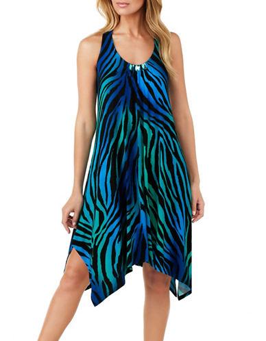 Ellen Tracy Jersey Racerback Nightgown-BLUE-Small