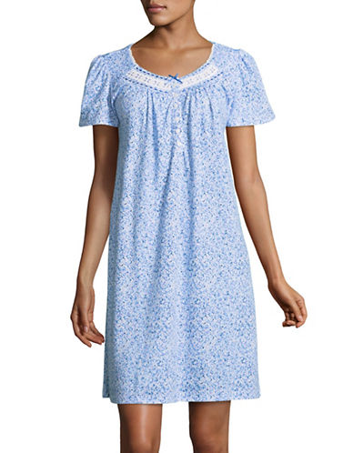 Aria Daisy Print Gown-BLUE/WHITE-Large