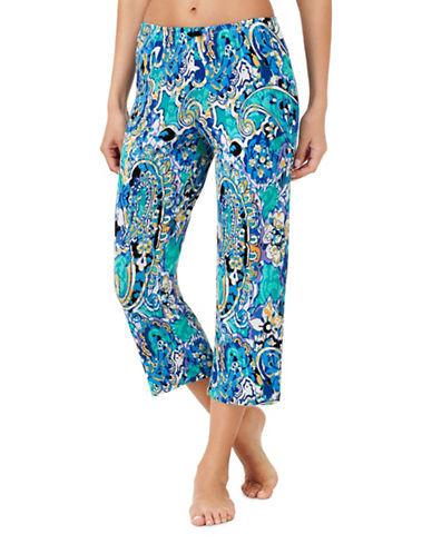 Ellen Tracy Jersey Pyjama Pants-BLUE-Medium