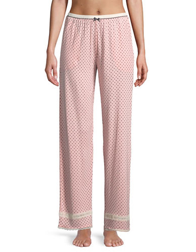Kensie Lace Polka Dot Pyjama Pants-DOT-Medium