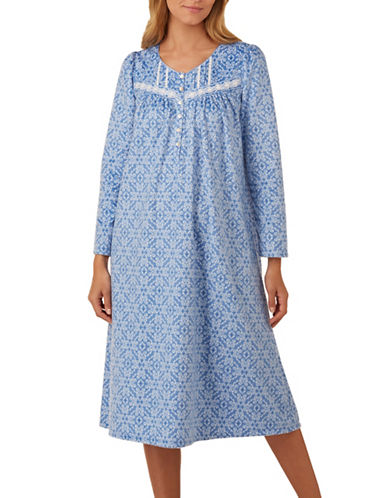 Aria Long Sleeve Sleep Dress-BLUE-Large