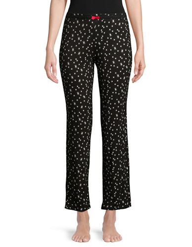Ellen Tracy Star-Print Pyjama Pants-BLACK PRINT-X-Large