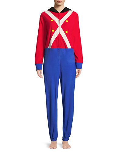 Sleeptease Hooded Toy Soldier Coverall-ROYAL-Small/Medium