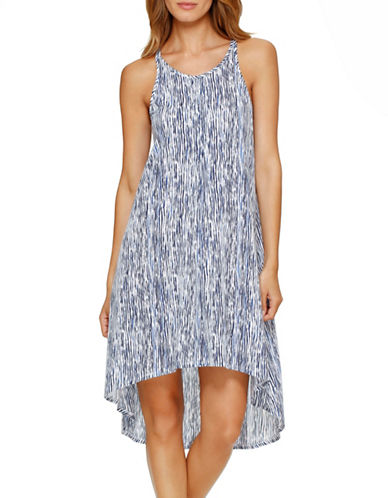 Dkny Poetic Notions Chemise-BLUE PRINT-Small plus size,  plus size fashion plus size appare
