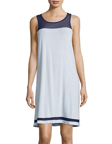 Dkny Jersey Mesh Chemise-BLUE-Small 89163424_BLUE_Small
