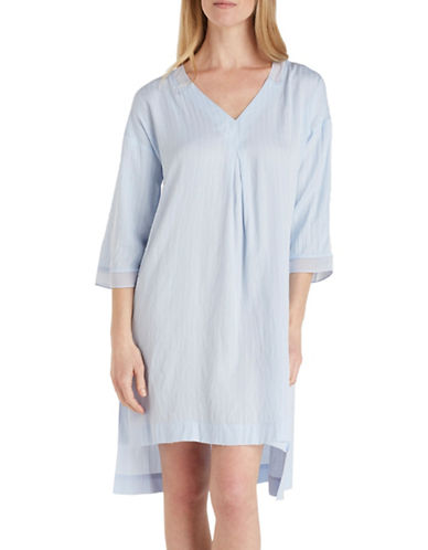 Dkny Crepe Caftan-BLUE-Medium