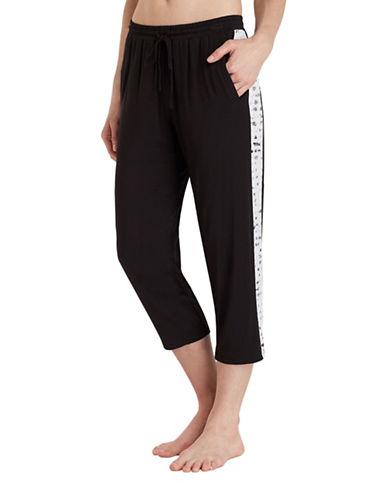 Dkny Cropped Jersey Pyjama Pants-BLACK-Medium 89235215_BLACK_Medium