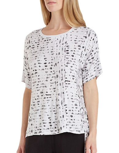 Dkny Lace Sleep Tee-WHITE-Small